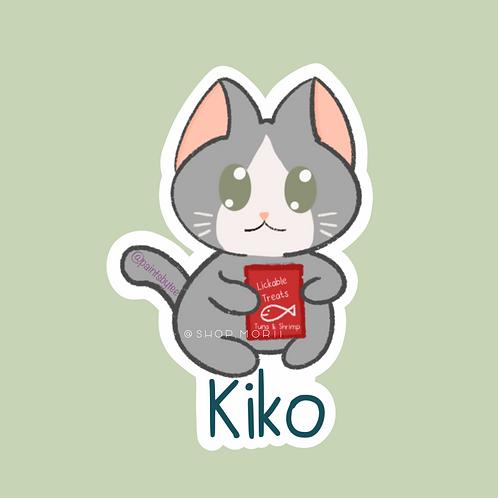 Kiko Cat Sticker (@teestudioco)