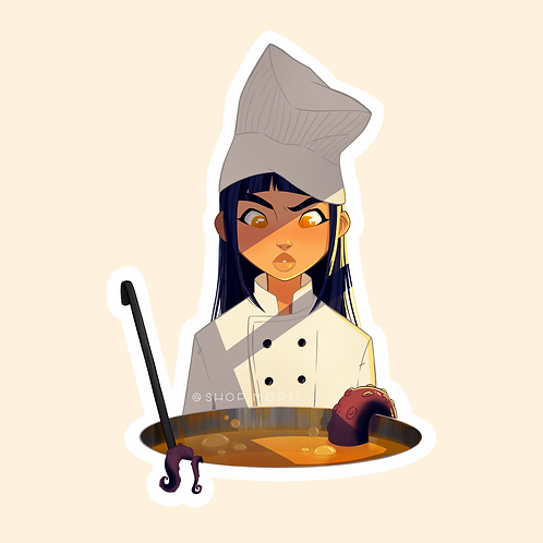 Monster Chef Sticker (@agnesillustrates)