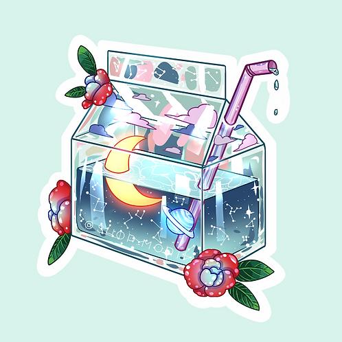 Galaxy Milkbox Sticker (@catface.exe)