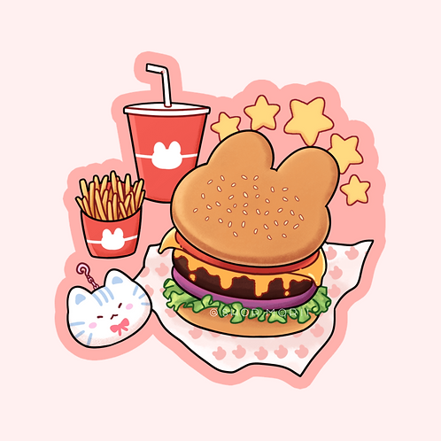 Burger Sticker (@leendoodles)