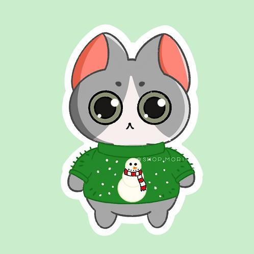 Ugly Sweater Kiko Sticker (@paintsbytee)