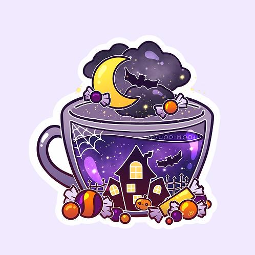 Halloween Tea Sticker (@heysoleilart)