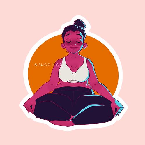 Meditation Sticker (@agnesillustrates)