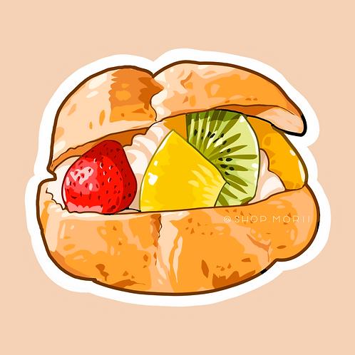 Fruit Cream Puff Sticker (@lessonguy)