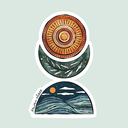 Peaceful Trio Sticker (@kristinheldtart)