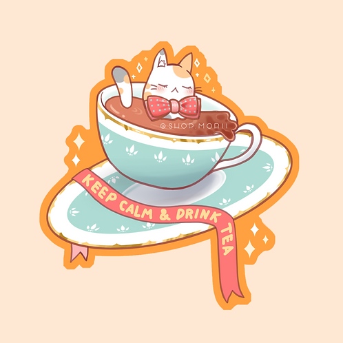 Drink Tea Sticker (@teriskyart)