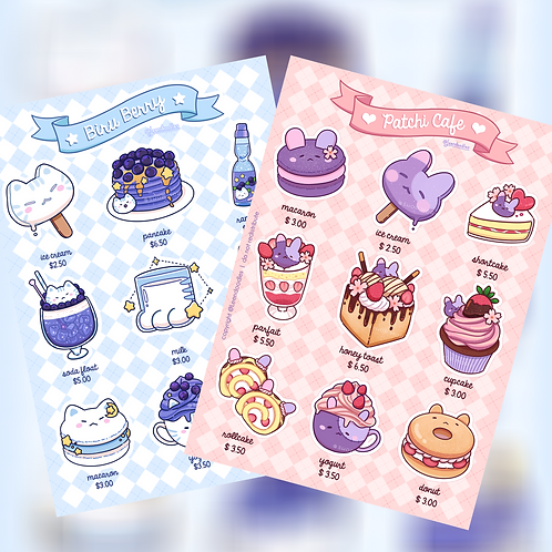 "5"" x 7"" Patchi & Biru Sticker Sheets Pack (@leendoodles)"