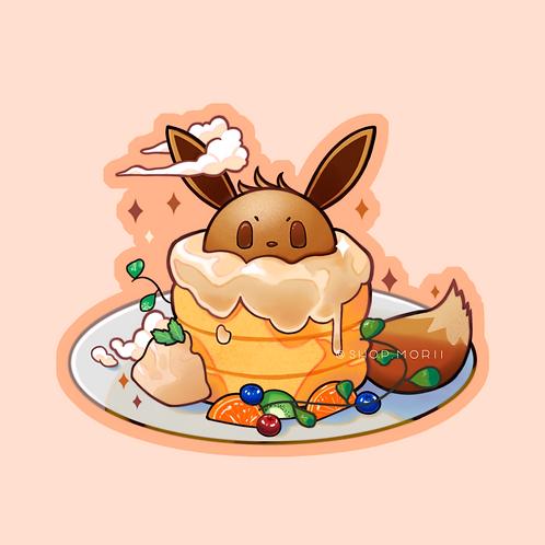 Fluffy Eevee Pancakes Sticker (@teriskyart)