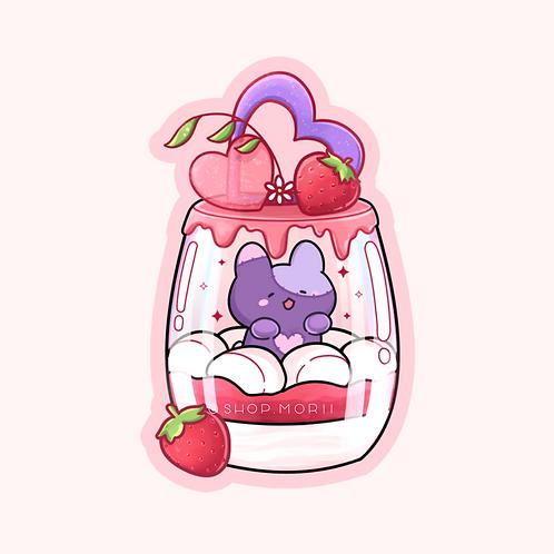 Strawberry Dessert Sticker (@leendoodles)