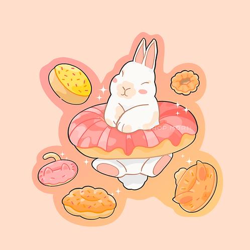 Rabbit Treats Sticker (@aiceebz)