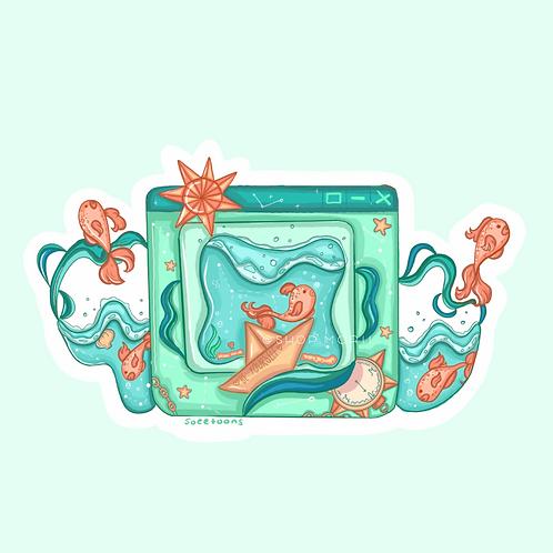 Seaglass Window Sticker (@soeetoons)