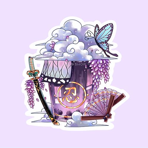 Shinobu-Inspired Bubble Tea Sticker (@catface.exe)