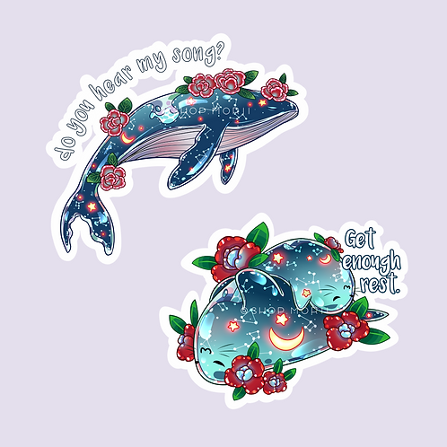 Lonely Whale & Sleepy Seals Sticker Pack (@catface.exe)