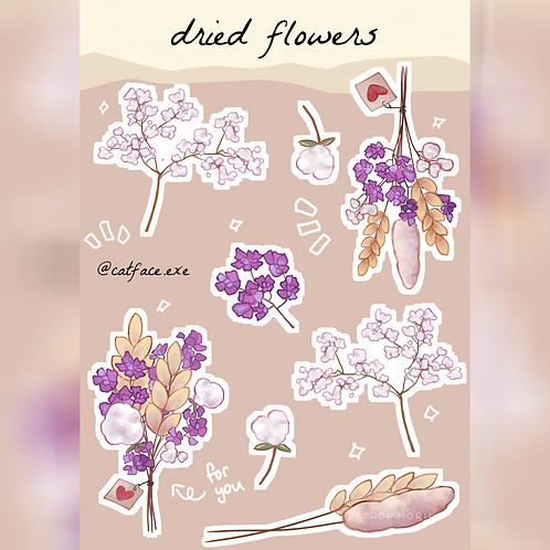 Dried Flower Sticker Sheet (@catface.exe)