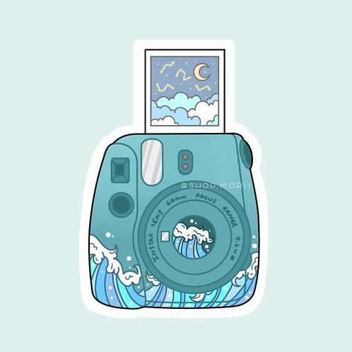 Wave Polaroid Sticker (@peaxhy_art)