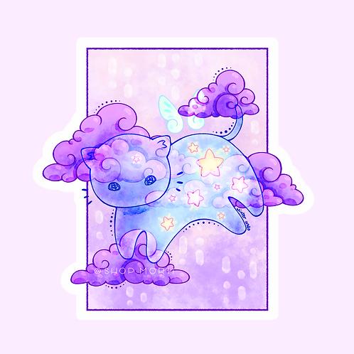 Starry Cloud Cat Sticker (@winterando)