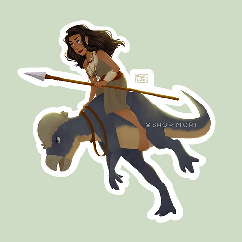 Dino Racer Sticker (@pastel.shark)