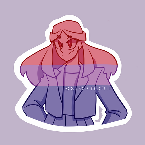 Bisexual Flag Sticker - Full Color (@chi_teetee)