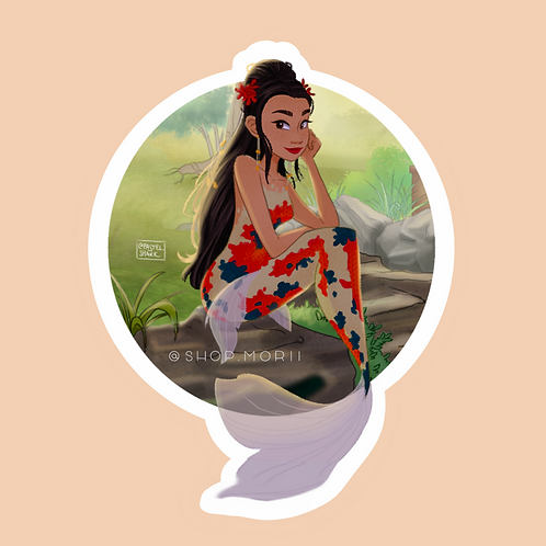 Koi Mermaid Sticker (@pastel.shark)