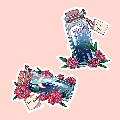Message-in-a-Bottle Sticker Pack (@catface.exe)