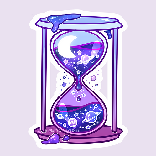 Galaxy Hourglass Sticker (@heysoleilart)