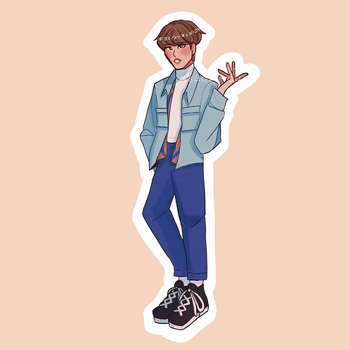 Dancing Gem LeeMinho-Inspired Sticker (@nectoclock)