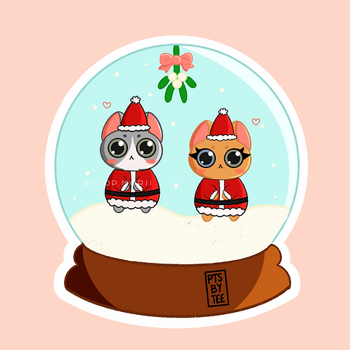Mr. and Mrs. Claus Sticker (@paintsbytee)