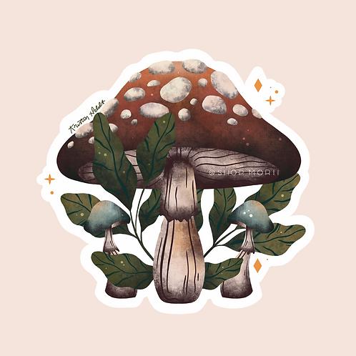 Mushroom Trio Sticker (@kristinheldtart)