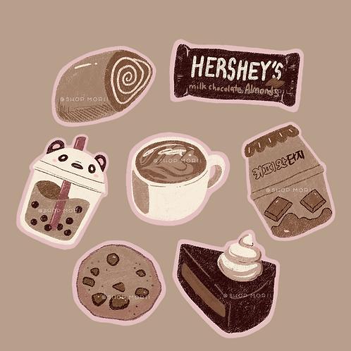 Foodie Series: Choco! Sticker Pack (@_pandoodle)