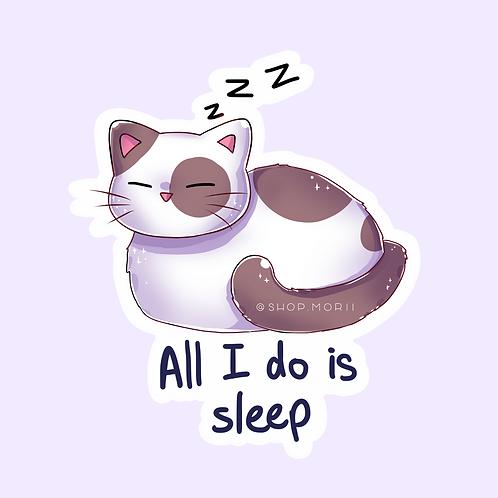 Sleep Cat Sticker (@catface.exe)