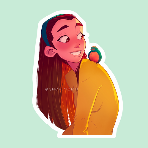 Feathery Joy Sticker (@agnesillustrates)