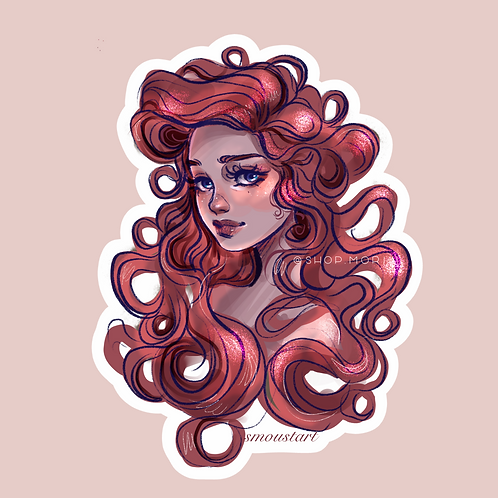 Little Mermaid Sticker (@smoustart)