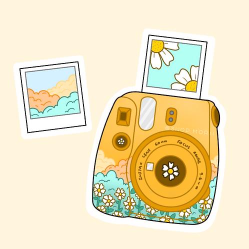 Sunflower Polaroid Sticker (@peaxhy_art)