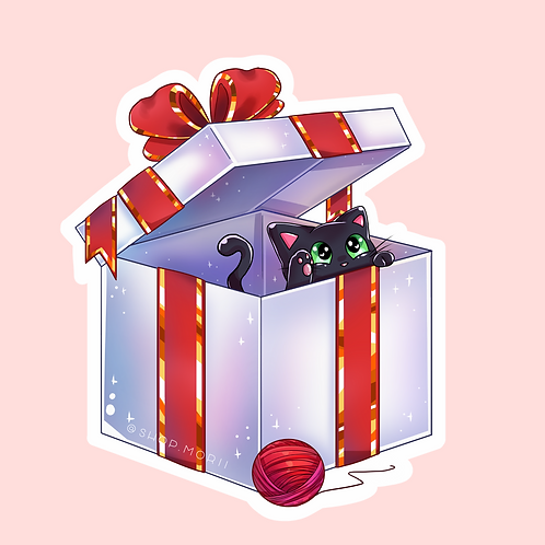 Christmas Gift Sticker (@catface.exe)