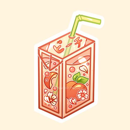 Peach Juice Box Sticker (@heysoleilart)