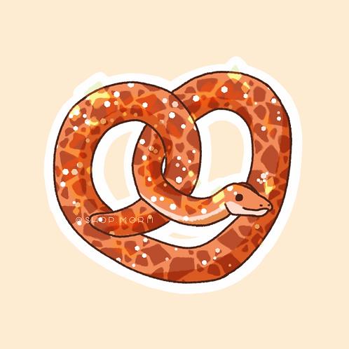 Pretzel Snake Sticker (@zneebs_)