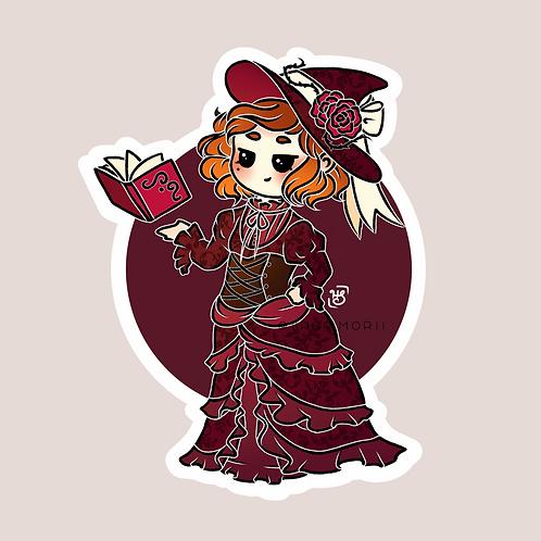 Victorian Witch Sticker (@heysoleilart)