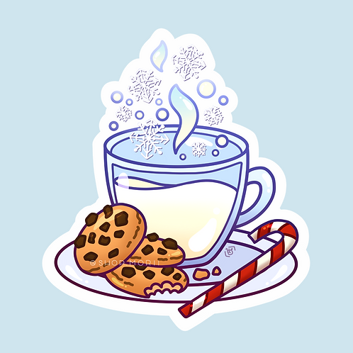 Milk And Cookies Sticker (@heysoleilart)