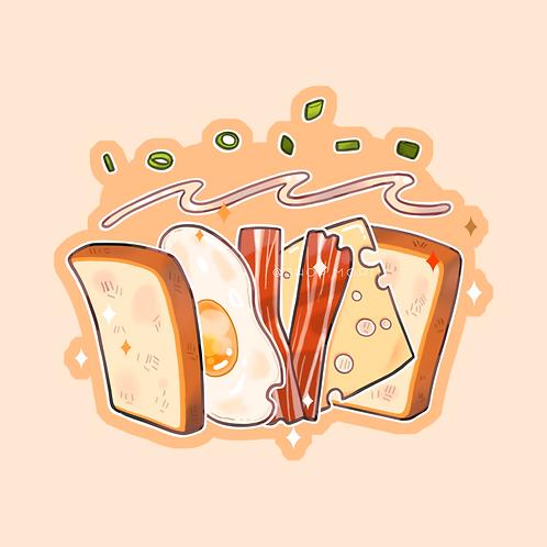 Bacon Egg Sandwich Sticker (@teriskyart)
