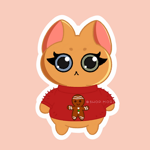 Ugly Sweater Gingy Sticker (@paintsbytee)