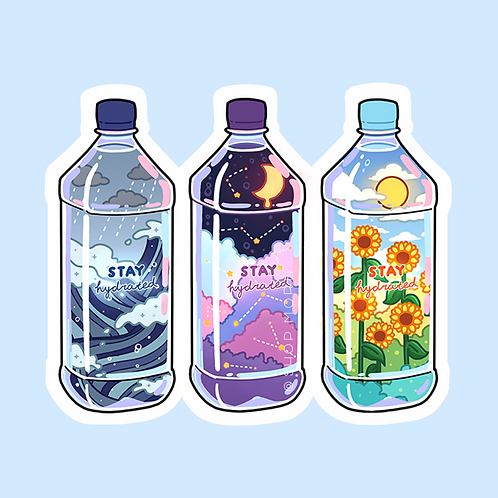 Stay Hydrated Sticker (@leendoodles)