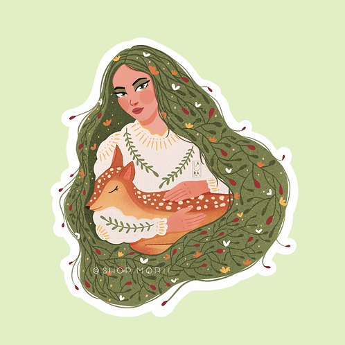 Flora & Fauna Sticker (@laura.m.dumitriu)