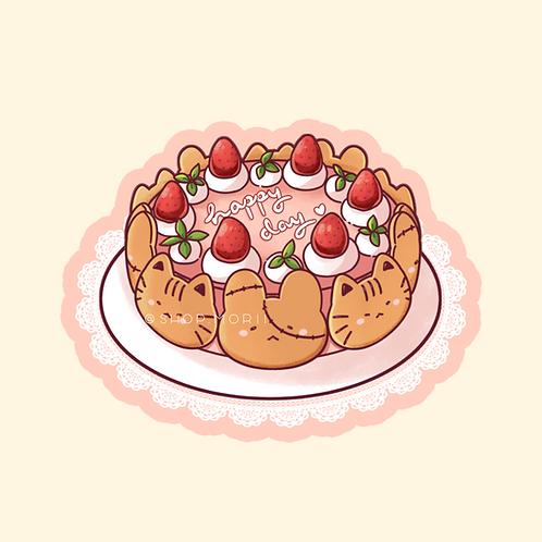 Cake Sticker (@leendoodles)