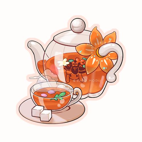 Lilligant Floral Tea Sticker (@teriskyart)