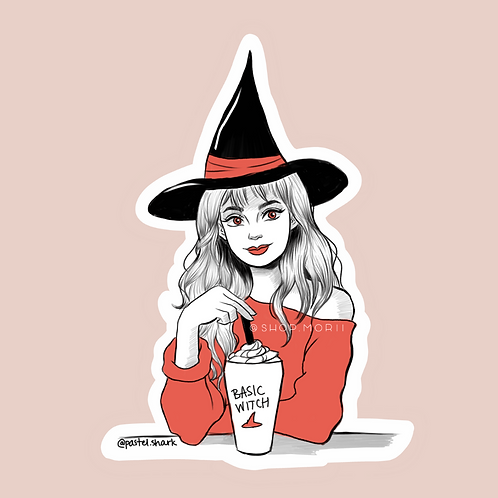Basic Witch Sticker (@pastel.shark)