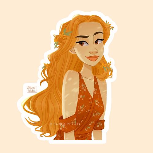 Summer Girl Sticker (@pastel.shark)