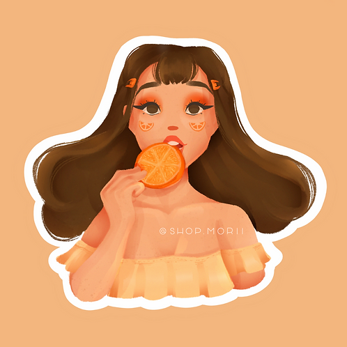 Orange Character Sticker (@vrpspam)