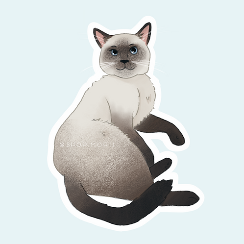 Siamese Cat 4 Sticker (@pastel.shark)