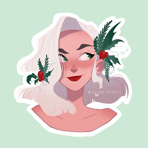 Holly Sticker (@agnesillustrates)