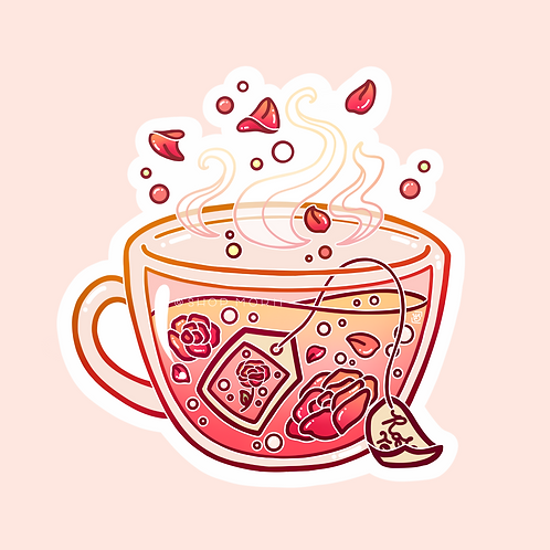Rose Tea Sticker (@heysoleilart)